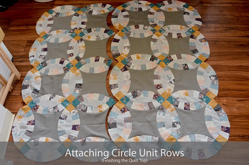 DWR: Attaching the circle unit rows