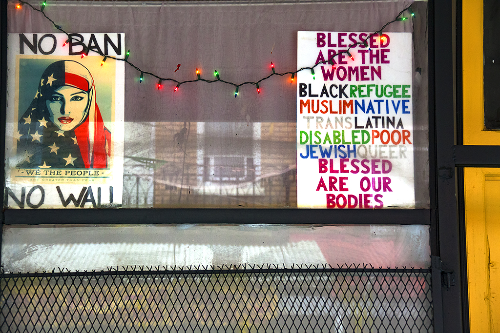 NO BAN NO WALL  BLESSED ARE THE WOMEN--Italian Market