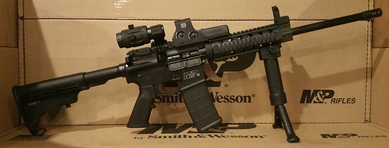 Smith Wesson M&P 15 Eotech 512 3x Vortex Magnifier