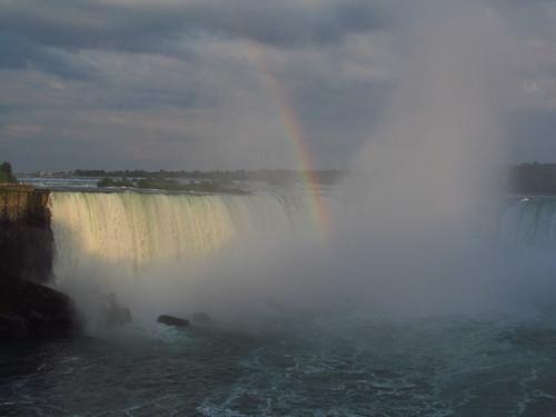 A Niagara Falls Rainbow Sunset, Ontario, Canada