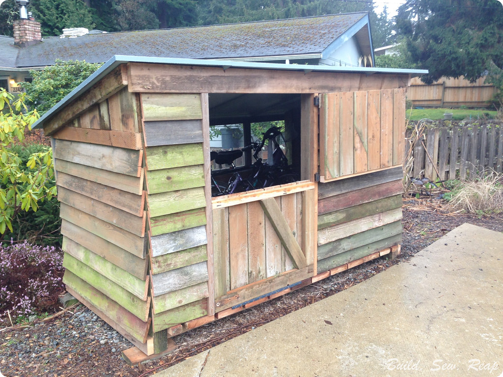 Bike Garage Build by Julie at Build Sew Reap