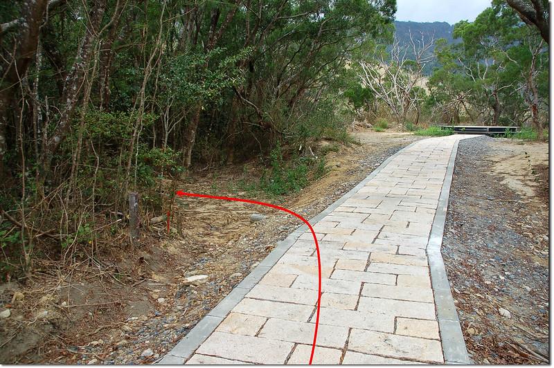 大梅山蝴蝶谷步道山徑入口