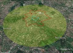 Rome 10 kilometer diameter