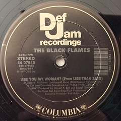 THE BLACK FLAMES:ARE YOU MY WOMAN?(LABEL SIDE-A)