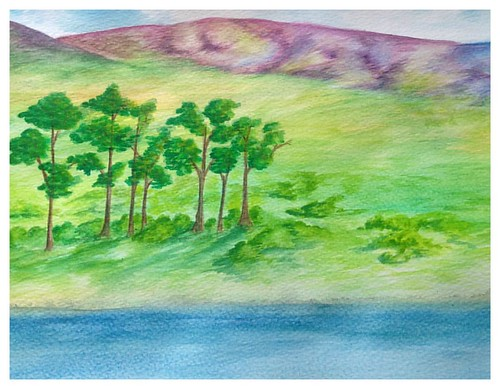 Highlands, watercolours . #watercolour #watercolours #painting #landscape