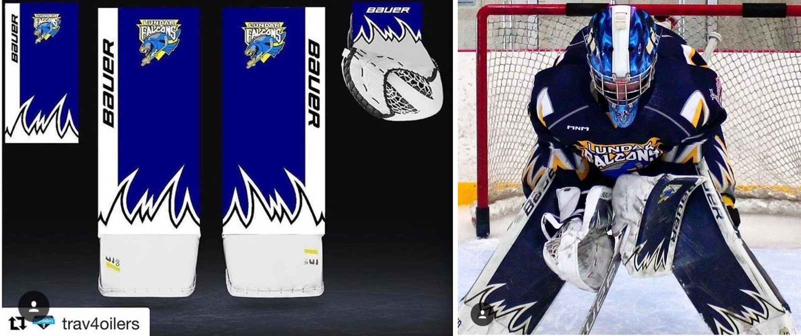 Digitally Printed Graphics Are the Future of Goalie Gear | Uni Watch