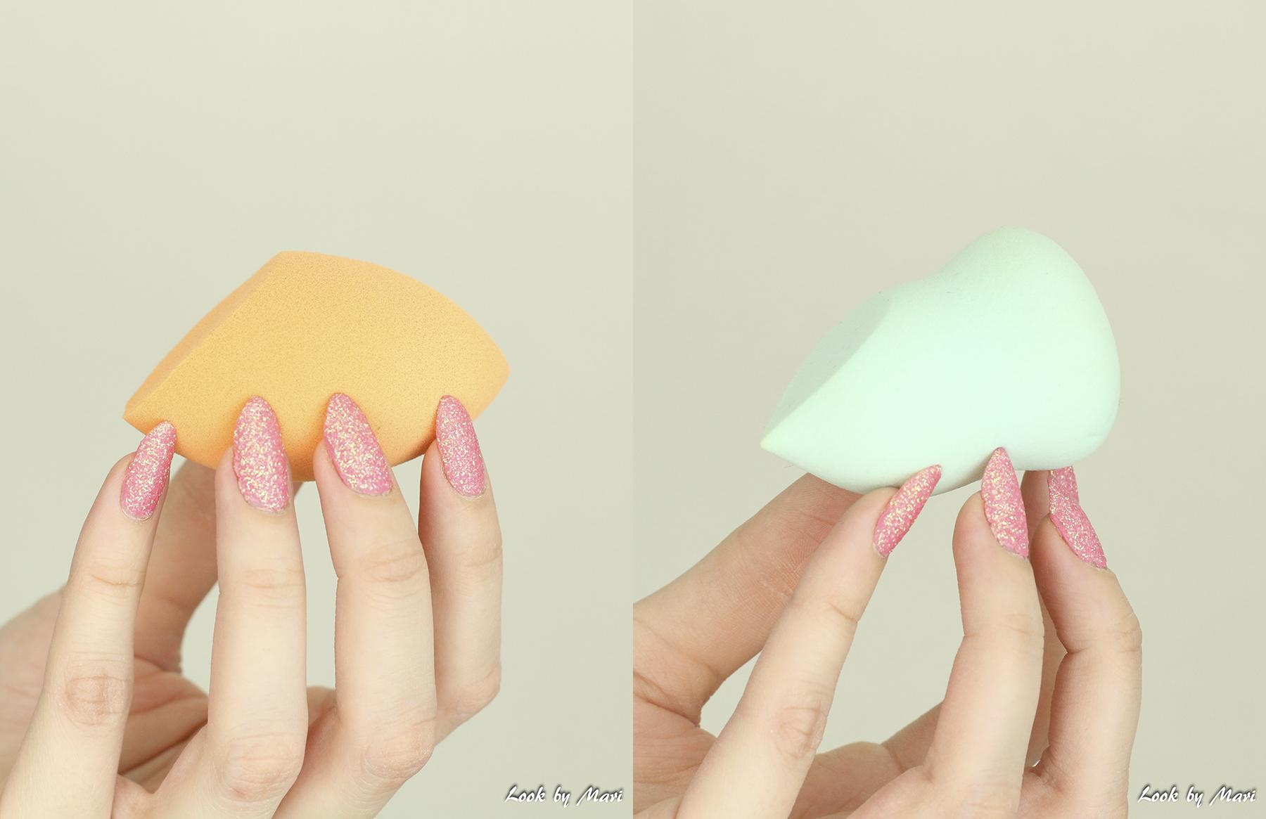 14 real techniques vs nanshy beauty sponge review kokemuksia pastelbeauty.fi