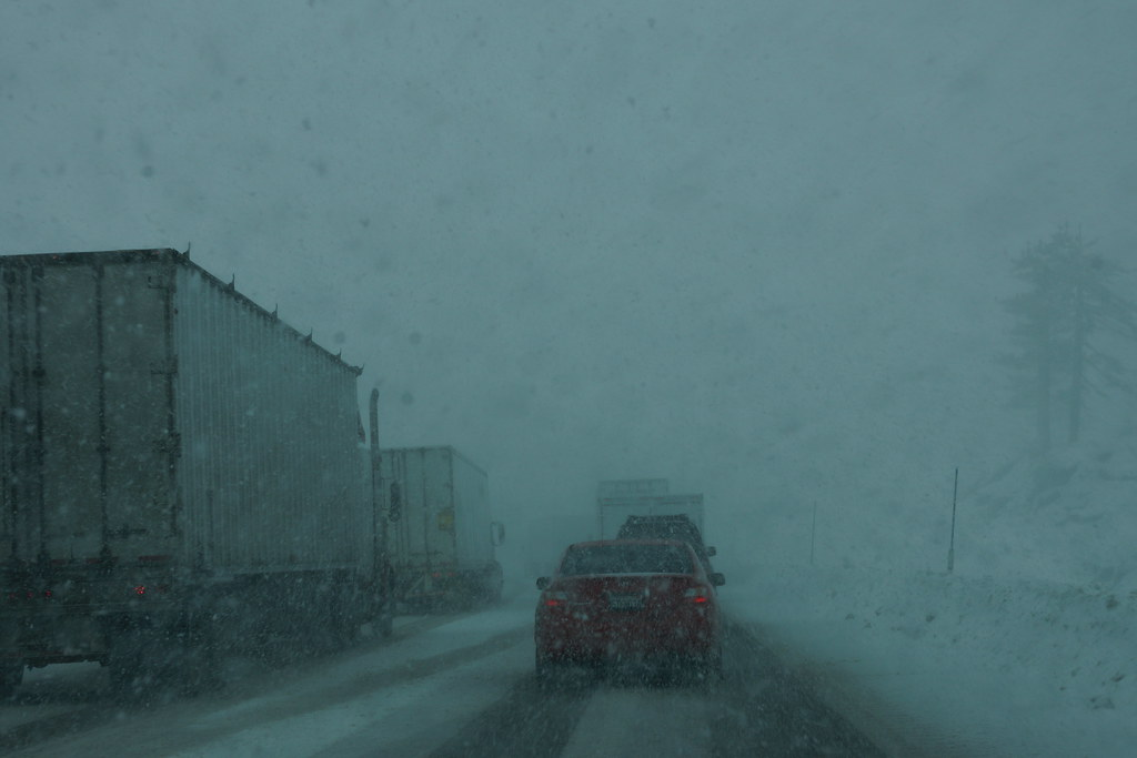 Driving in Snow Storm