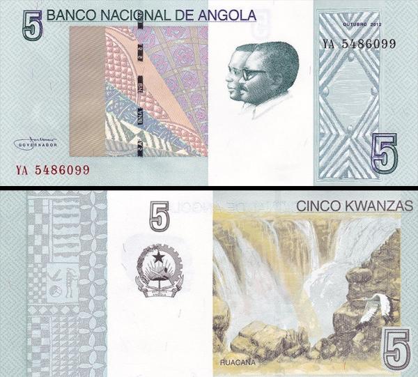 5 Kwanzas Angola 2012 (2017), P151A
