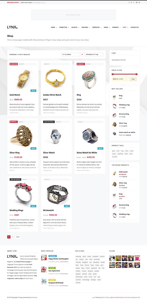 ... Lynx - WordPress Theme - Shop - by ZERGE_VIOLATOR