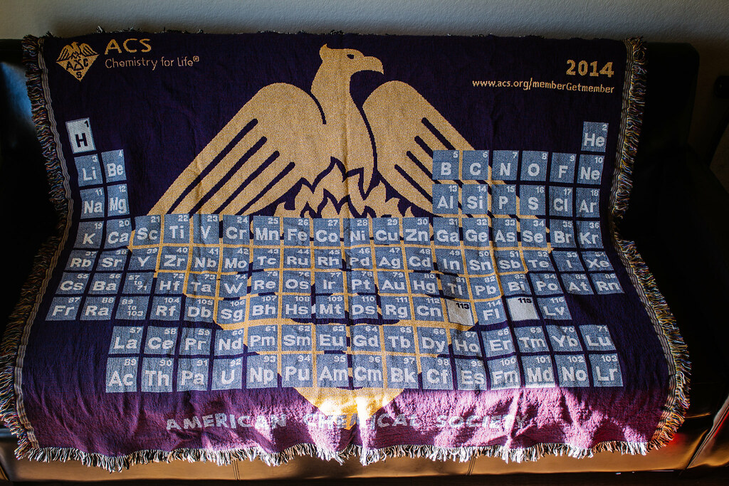Periodic table periodic table of the elements blanket throw periodic table periodic table of the elements blanket throw american chemical society blanket chris urtaz Choice Image