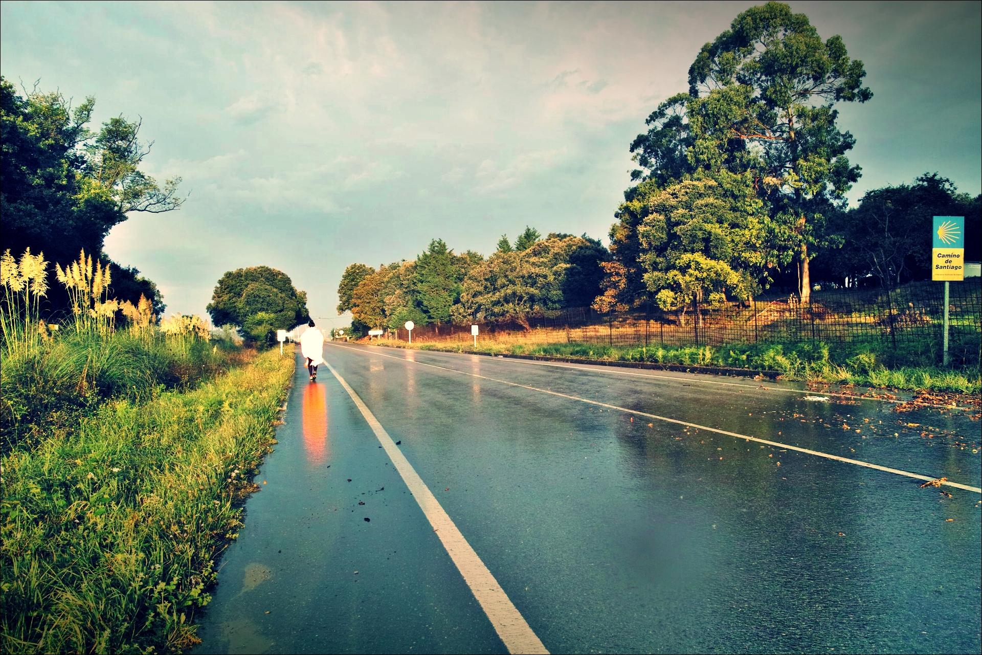 빗길-'카미노 데 산티아고 북쪽길. 노하에서 궤메스. (Camino del Norte - Noja to Güemes)'