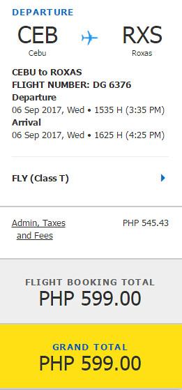 Cebu Pacific Roxas Promo September 6, 2017