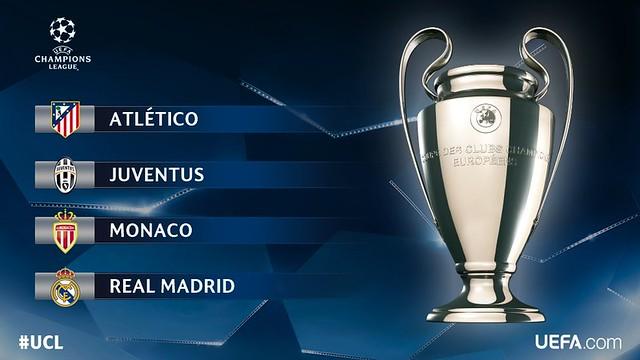 Champions League: Los 4 Semifinalistas para el sorteo