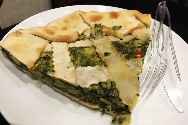 Spinach and potato pie