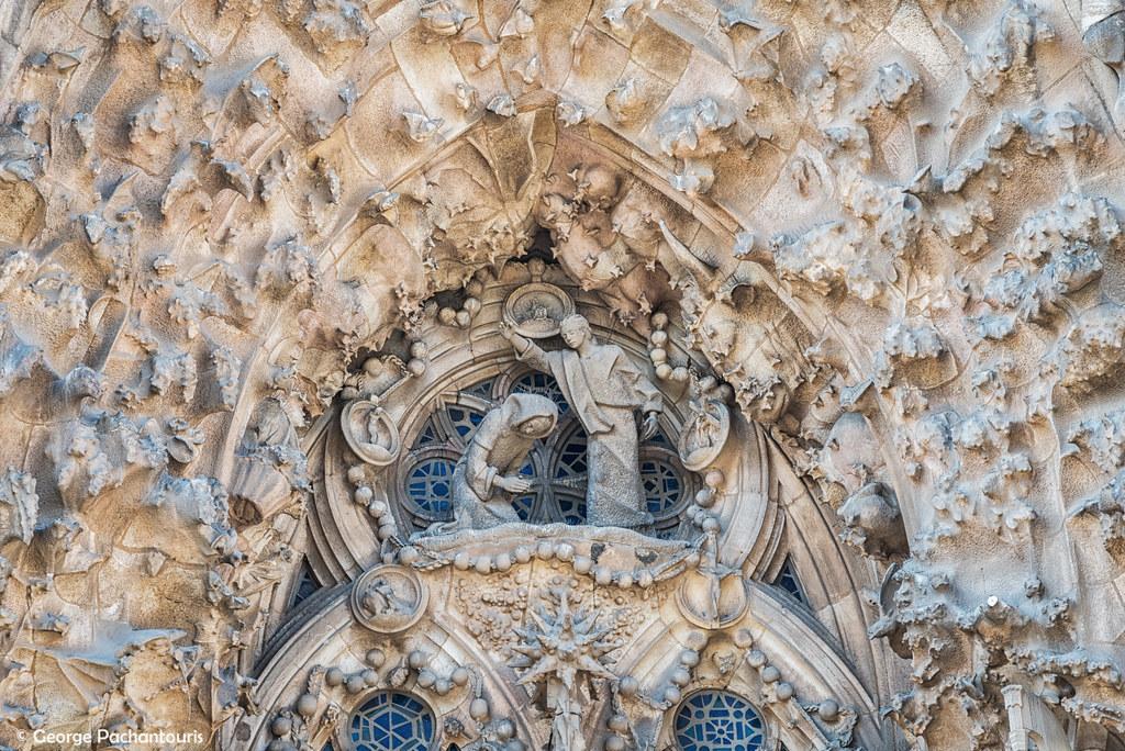 Detail at la Sagrada Familia, Barcelona, Spain