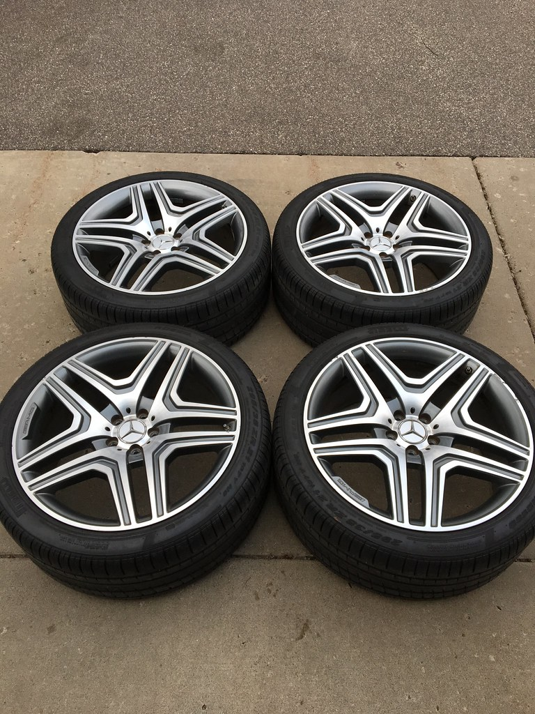 21 oem mercedes benz ml63 amg wheels w tires mercedes for Mercedes benz amg rims for sale