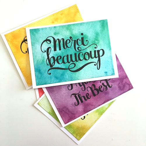 Colorful thank you cards | by Kimberly Toney