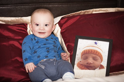 Owen with a photo of himself for the UHCW Neonatal unit | by Lewis Craik