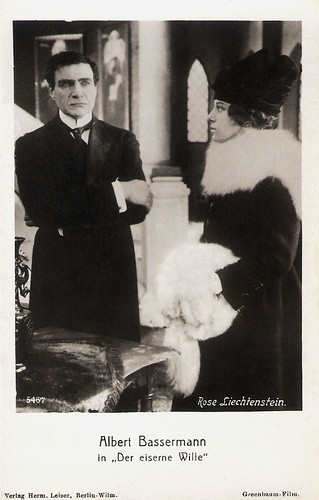 Albert Bassermann and Rose Liechtenstein in Der Eiserne Wille (1917)