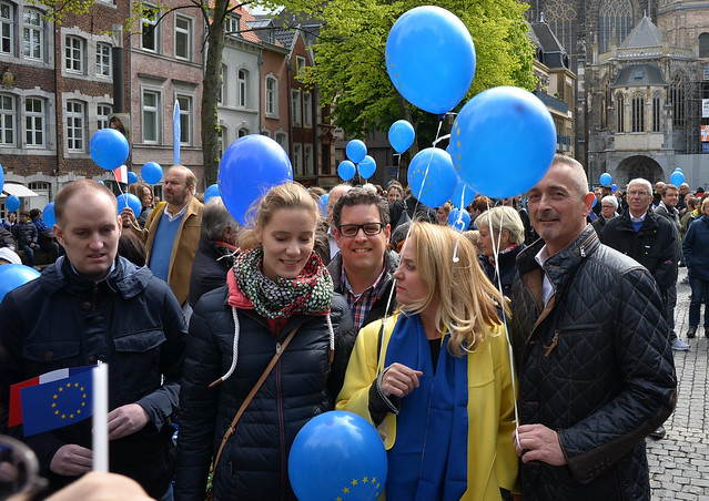 Pulse of Europe am 23.04.2017 in Aachen