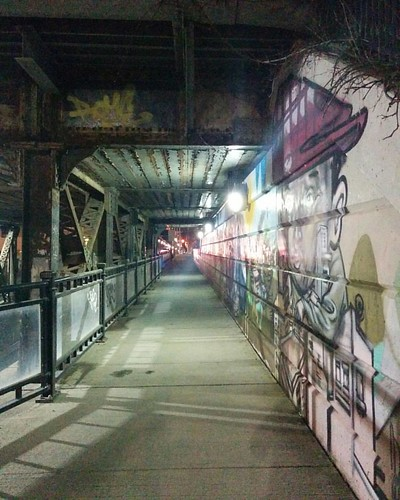 Underneath #toronto #bathurststreet #davenport #tunnel #night