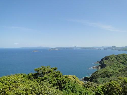 野母崎の権現山から角力灘、端島、中ノ島、高島、伊... 野母崎の権現山から角力灘、端島、中ノ島、