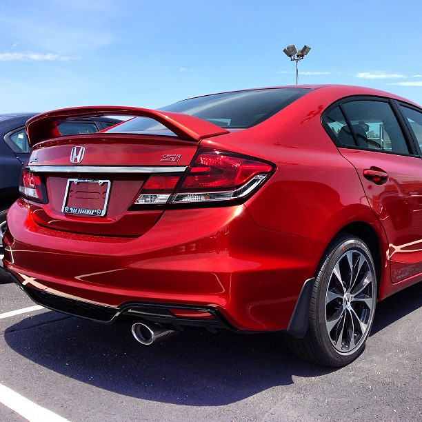 Superb ... 2013 Honda Civic Si Sedan In Sunburst Orange Pearl #honda #hondacivic # Civicsi |