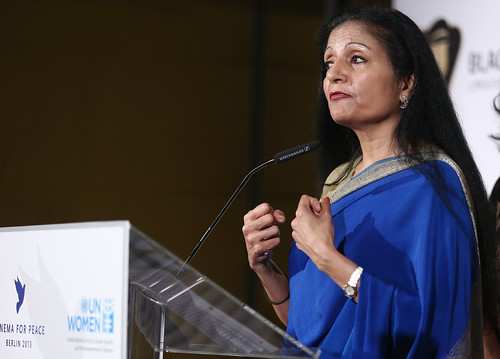 UN Women Acting Head Lakshmi Puri speaks at the Cinema for Peace UN Women honorary dinner at Soho House on 12 July 2013 in Berlin | by UN Women Gallery