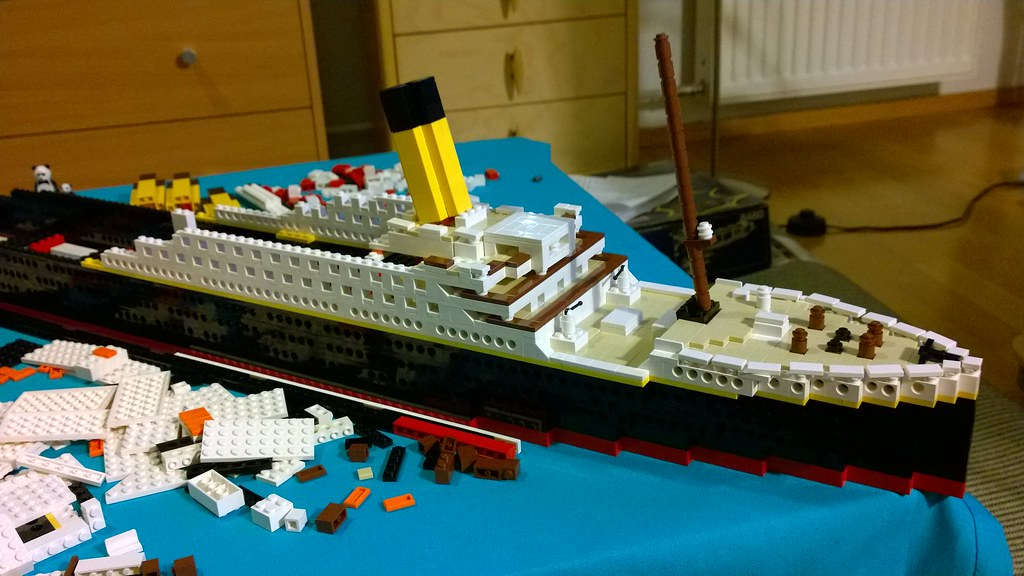 My Lego Titanic Under Construction My Lego Titanic Juho