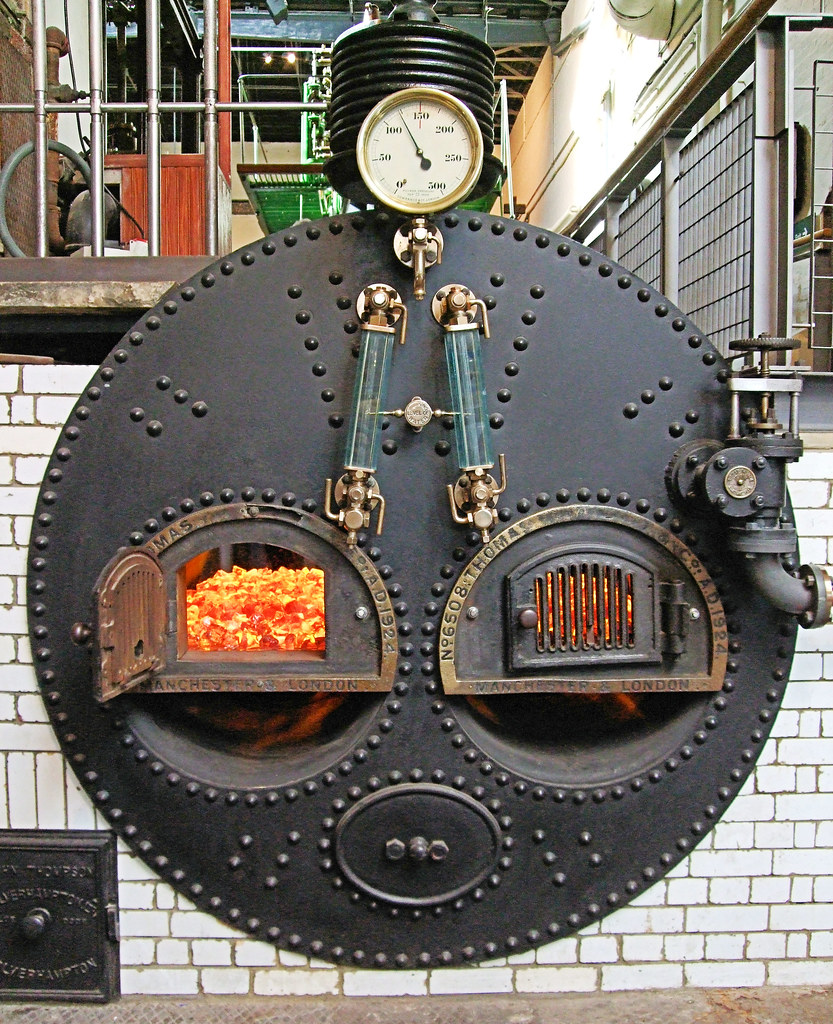 The Lancashire Steam Boiler At The London Museum Of Water