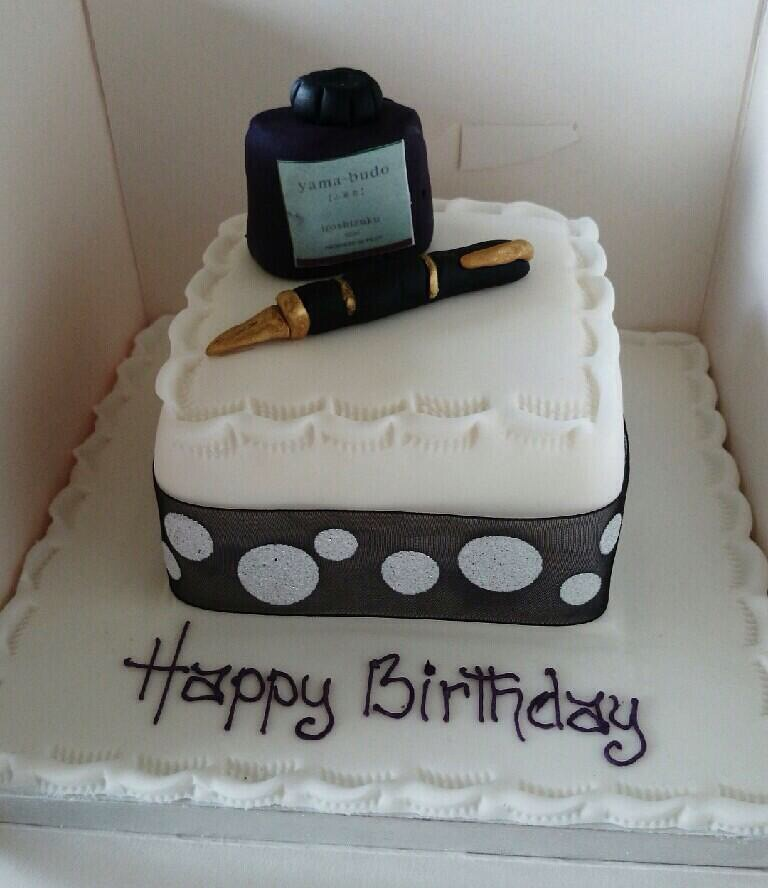 Fountain Pen Birthday Cake