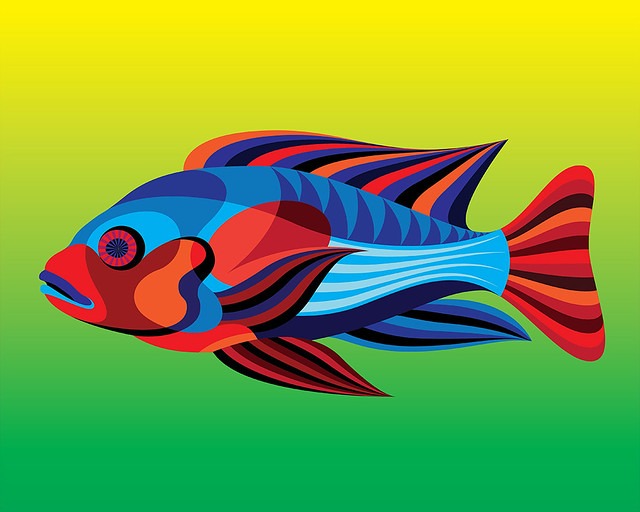 Endangered Species : Caribbean Tropical Fish.