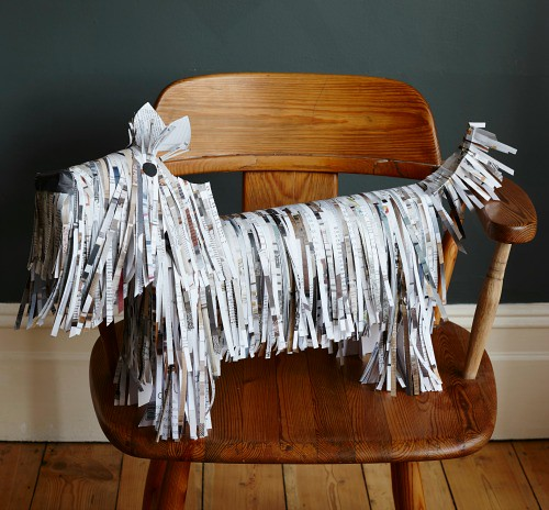 Folded Book Art - Shaggy Dog Project
