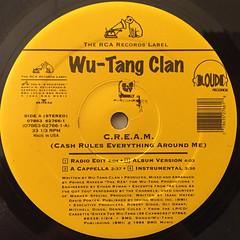 WU-TANG CLAN:C.R.E.A.M.(LABEL SIDE-A)