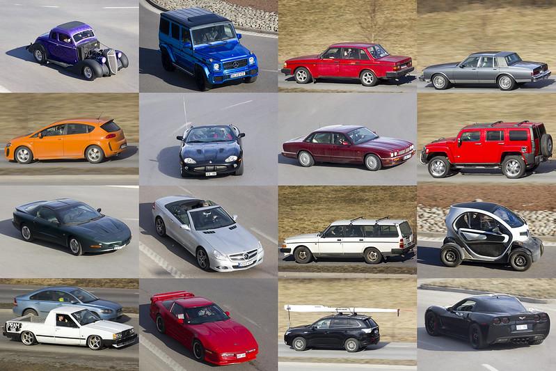 Sixteen Cars