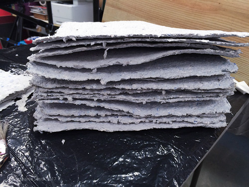 "Ancient History Project: Recycled Paper Dried | by Stephanie ""Biffybeans"" Smith"