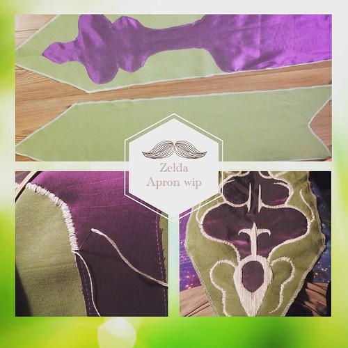 Zelda apron embroidery