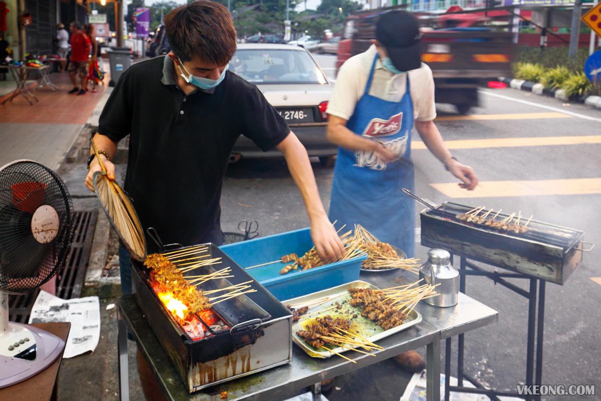 Grilling Satay Hai Heng Pork Satay Melaka