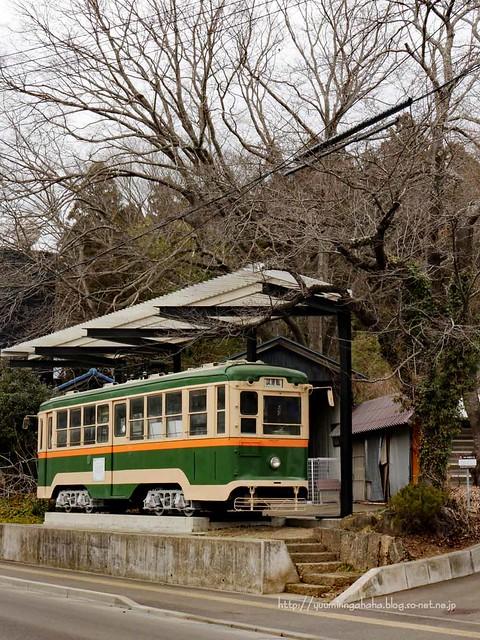 かつての 秋保電鉄 電車