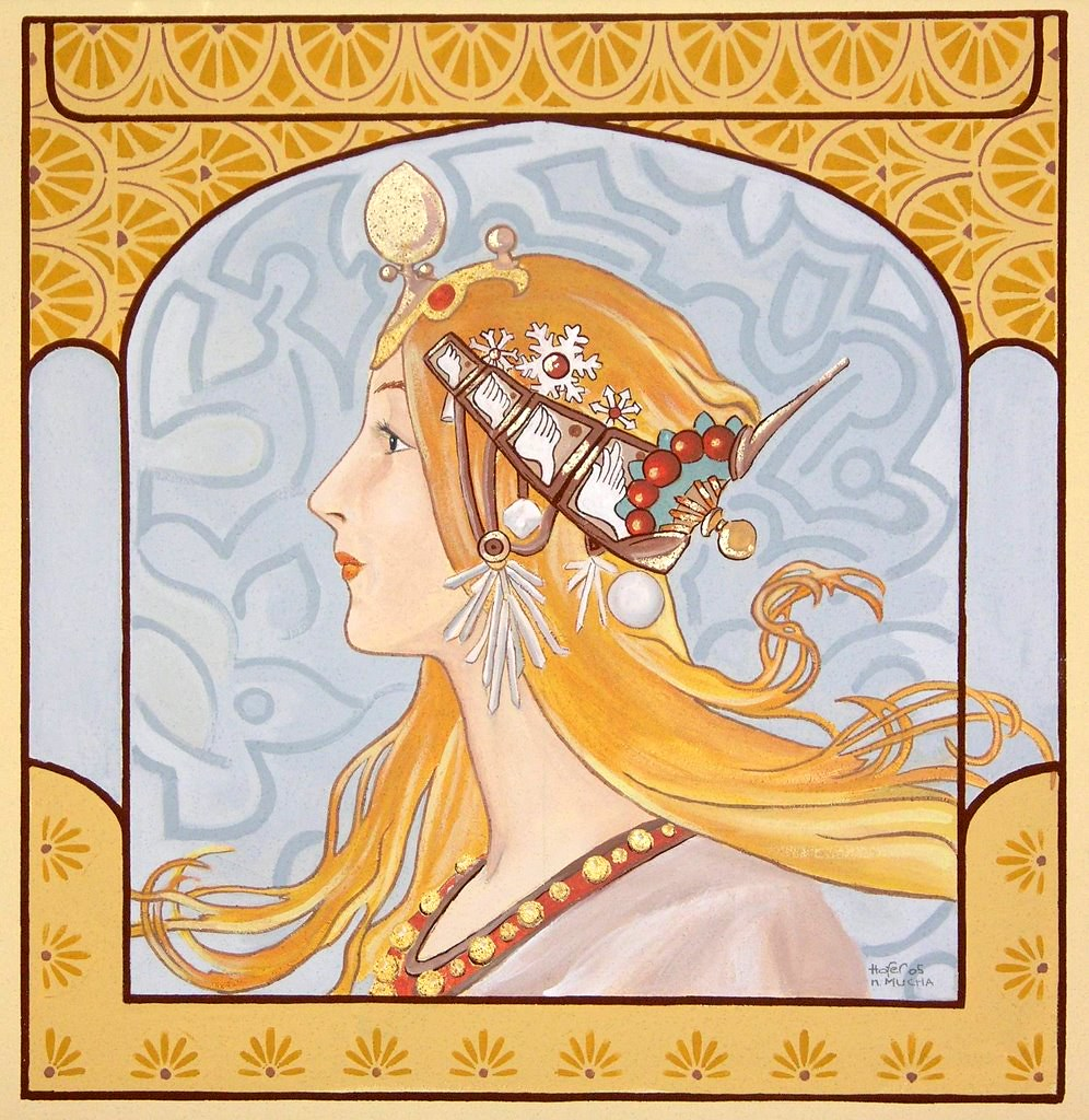 Jugendstil Malerei wandgemälde im jugendstil planötscher andrea kunst flickr