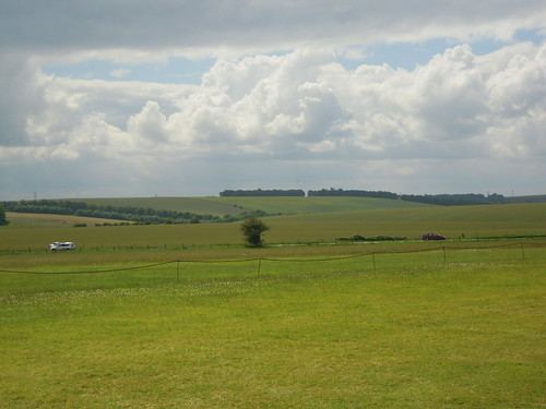 The view from Stonehenge. From Studying Abroad in London: A Trip to Stonehenge