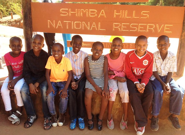 Happy faces as we prepare to enter Shimba Hills
