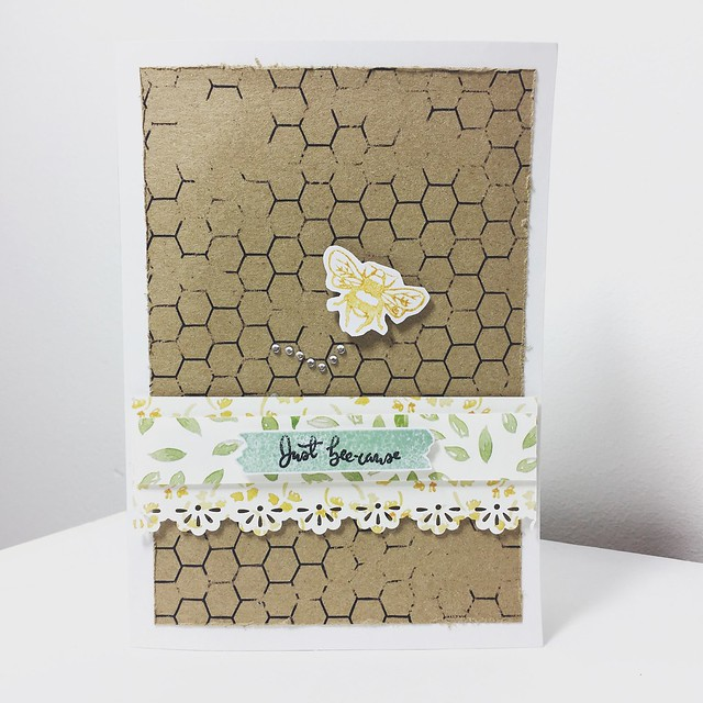How to make clean and simple cards with the Bee Garden range