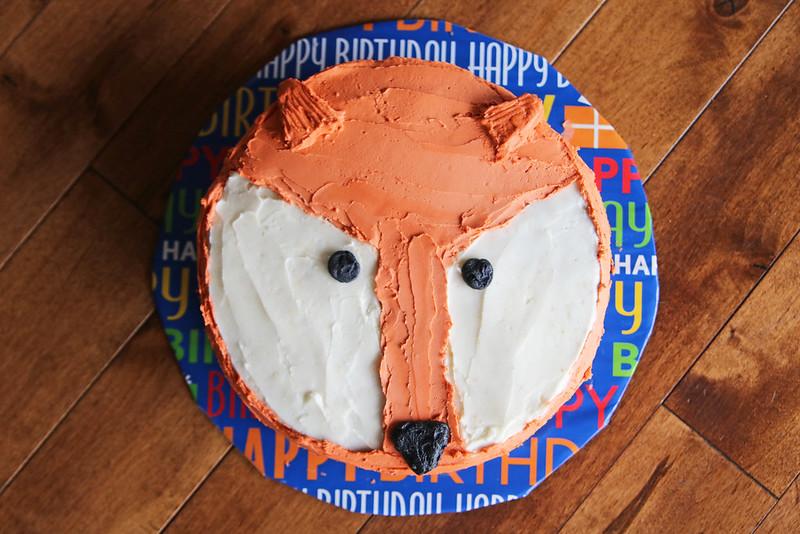 Jonathan's 1st Birthday Party Fox Cake