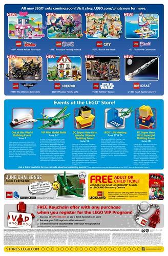 June 2017 LEGO Store Calendar