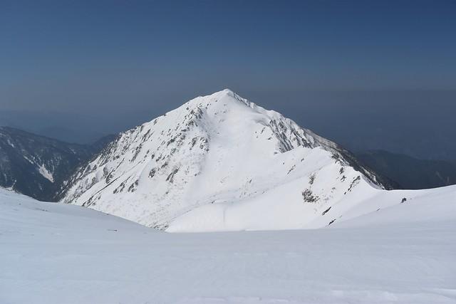 中央アルプス・雪の三ノ沢岳