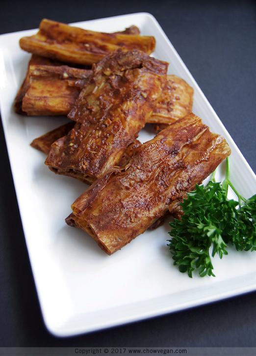 Chinese BBQ Yuba Ribs | Chow Vegan