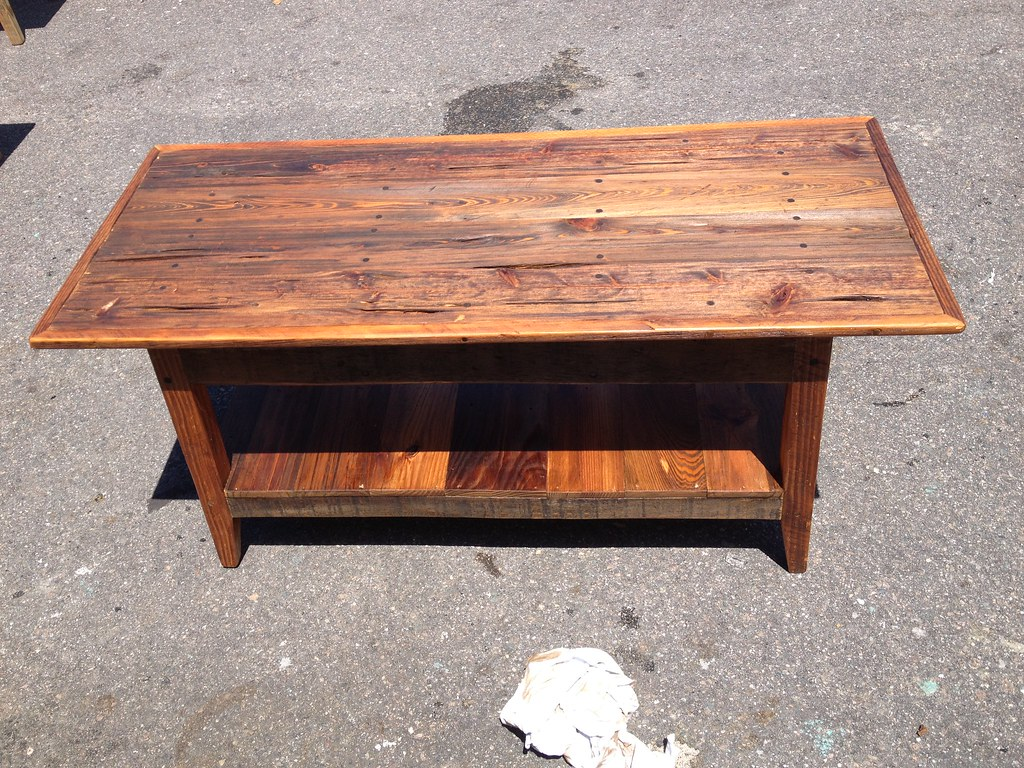 Pecky Cypress With Tobacco Stick Trim Coffee Table Flickr