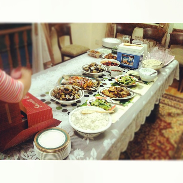 Haziq's 16th Birthday Iftar Dinner Spread !! #makan #yumch